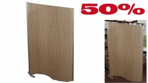 Flexible Stellwand Flexiscreen, laminiert 1200x1600-1800mm / Ahorn