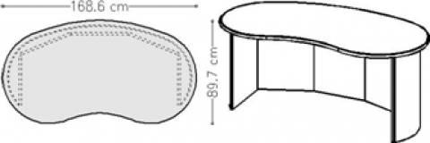 infinity design j-style - Schreibtische und Theken mit geschlossener Rückwand
