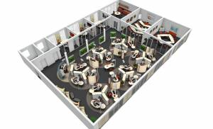 Abels Freiraum Fulda - Planung einer Büroetage mit Vital-Office Büromöbel (FengShui)
