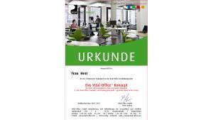 """04.11.2011 - Ausbildungsreihe:  2.  """"Die Vital-Office Produkte und Planungsbeispiele"""" .. gesunde Büros in der Praxis"""