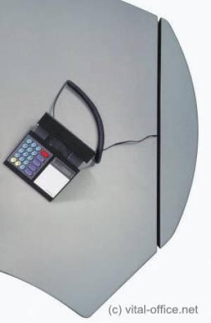circon executive classic - Chefschreibtisch - Komfortable versteckte Verkabelung vom Boden bis auf die Schreibtischplatte