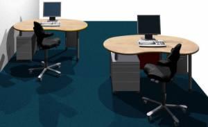 Schreibtische - infinity design e-style - Platzsparende kostengünstige Bildschirmarbeitsplätze