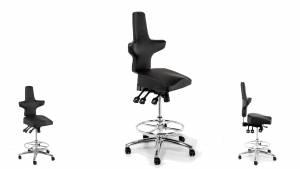 WEY-chair 106h Sattelstuhl Hochsitzer (Barstuhl) DUOcolor GRAU