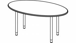 Variconferenz - Variable Konferenztische als Ellipse oder Bootsform mit Rundrohrfüßen