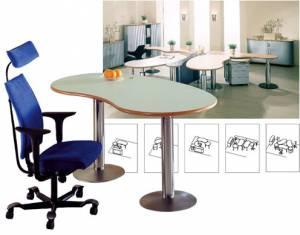 Schreibtische - infinity design c-style - Souveränes Arbeitsplatzdesign durch Säulenfüße