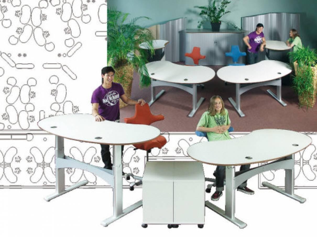 Schreibtische - Powerlift - Ergonomisch Sitzen und Stehen