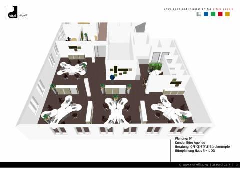 Büroplanung | Büro Ageneo im WOCON V München-Giesing