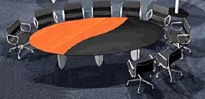 circon s-class - kreative Plattenaufteilung des Konferenztisches
