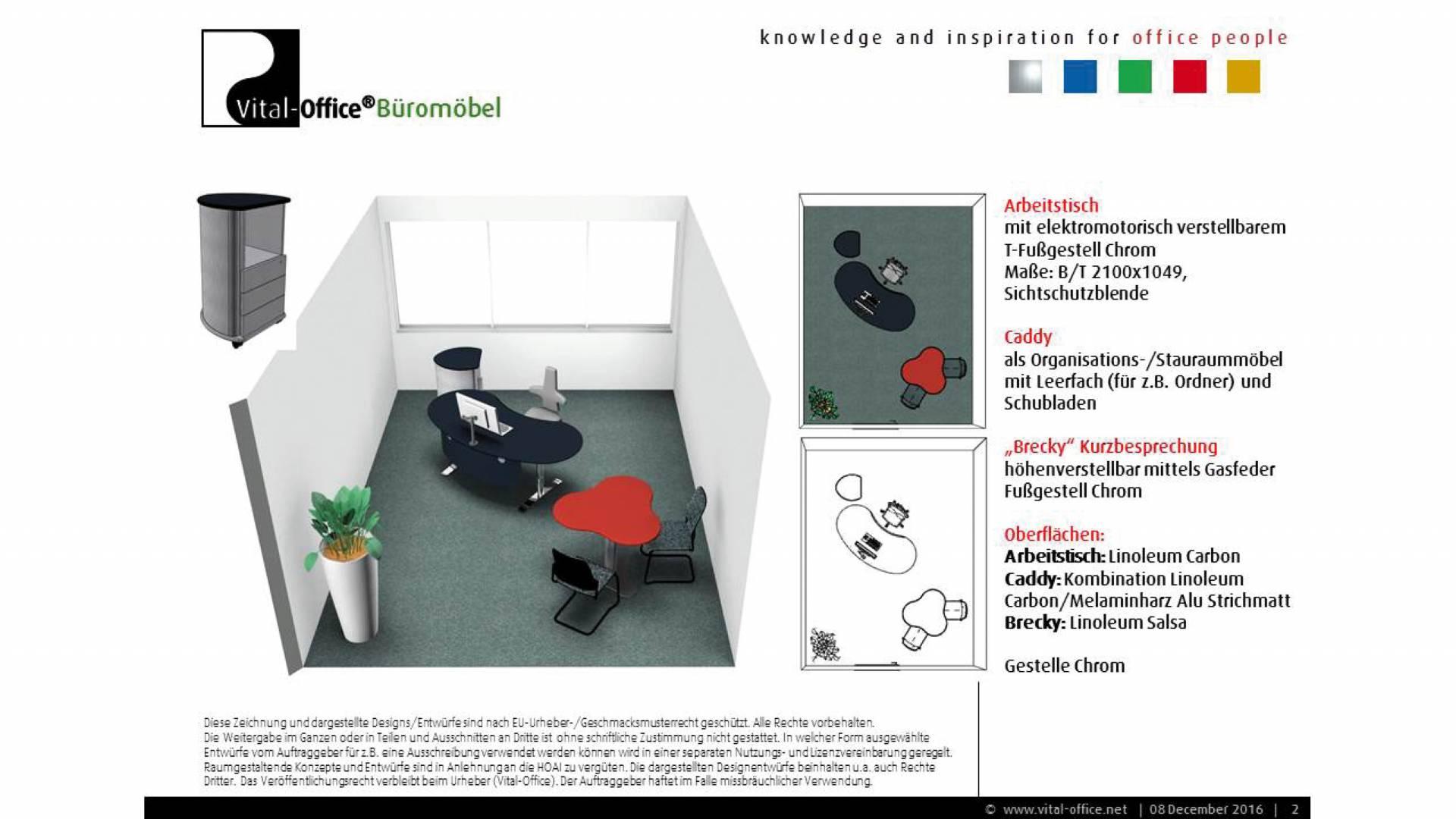 Büroplanung Geschäftsführerin Softwarehaus Karlsruhe - Vital-Office