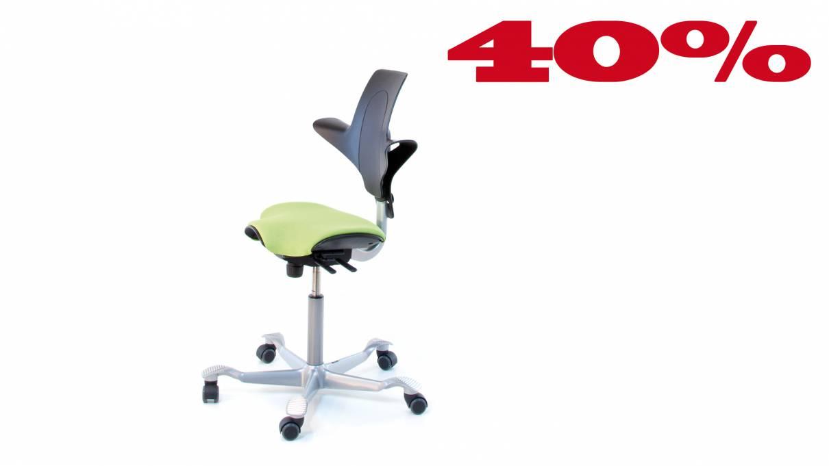 HAG Capisco Puls H8020 schwarz/grün