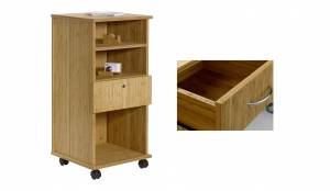 Bambus Büro-Caddy mit 1 Schublade (Sitwell Lagerkollektion)