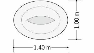 circon s-class - Elliptische Einsäulentische