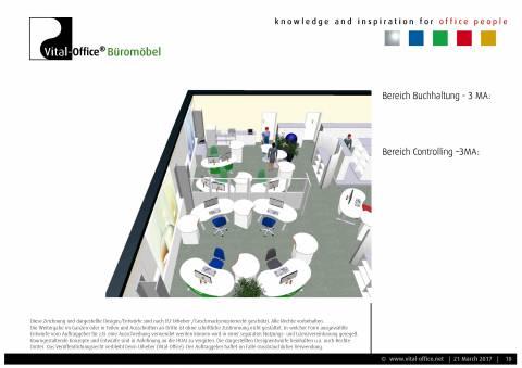 Büroplanung | Einrichtungskonzept für 28 Mitarbeiter
