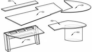 circon executive jet - Chefschreibtisch - Design Natural Stone