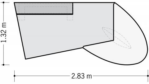 Cheftisch Jet in Dekor 2830x1320mm