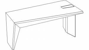 Schreibtisch circon Face Basistisch mit Fuß