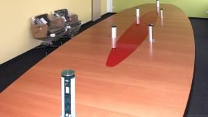 circon s-class - 7x2m - Konferenztisch mit Mini Notebook-Mediensteuerung für Media Markt, Ingolstadt