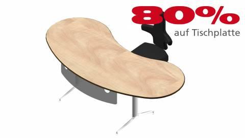 Verkauft: Schreibtisch 8d2b65 in Birne hell Dekor 2315x1111mm
