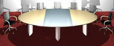 circon s-class - 3-Plattenteile ermöglichen individuelle Variationen des Konferenztisches
