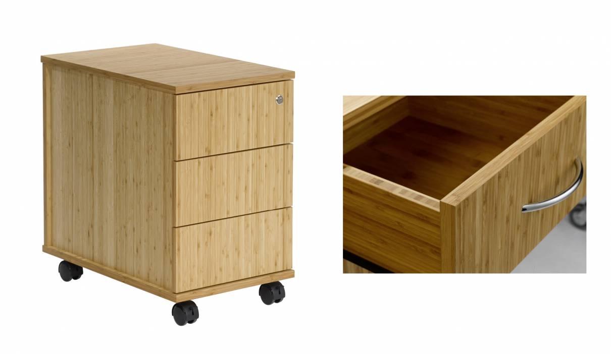 Bambus Büro-Rollcontainer - Vital-Office