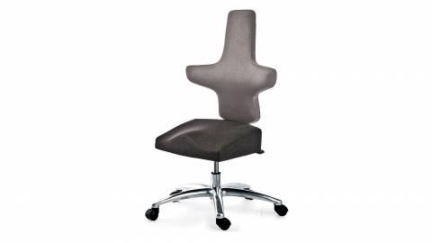 WEY-chair 106 DUOcolor GRAU mit Sattelsitz für höhenverstellbare Tische