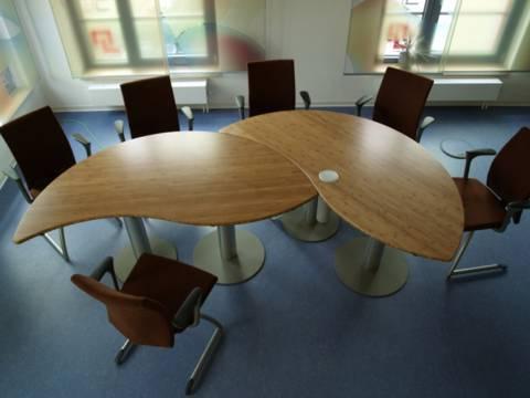 Smart Konferenz- und Besprechungstische - runde Ausführung
