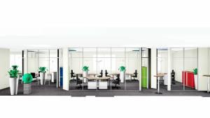Büroplanung - spannende Raumgeometrie für Arbeitsschutzunternehmen