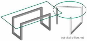 circon executive glass classics - Chefschreibtisch - Im Stil der Bauhausdesigner