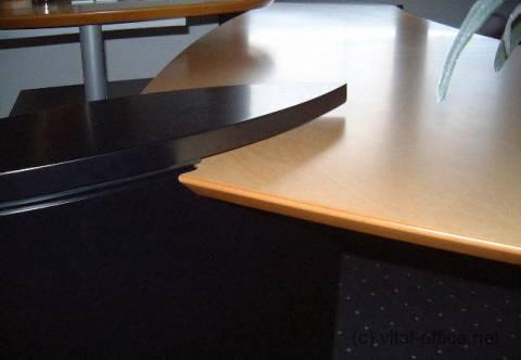 circon executive wing - Chefschreibtisch -  Eleganter Zugang zu Steckdosen und Kabel von oben