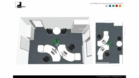 Kleines Büro perfekt im Einklang mit Feng Shui