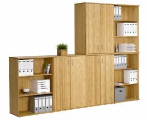 Bambus Schränke mit oder ohne Flügeltüren, stapelbar (Sitwell Lagerkollektion)