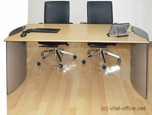 circon executive basic - Chefschreibtisch - Basistisch mit außenstehenden Formteilfüßen