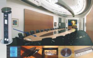 Medienplanung - im Mobiliar integrierte Medientechnik für Kommunikation und Präsentation