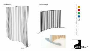vitAcoustic - Flexipartition Schallabsorber im Aluminiumprofil