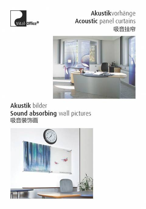 vitAcoustic - Acoustik panel curtains