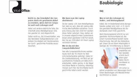 4. - 6.09.2009 - Grundlagen der Baubiologie und Messtechnik