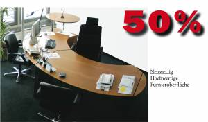 Cheftisch classic in Echtholz 3350x1950mm