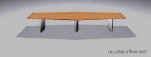 circon s-class - Konferenztisch in Trapezform
