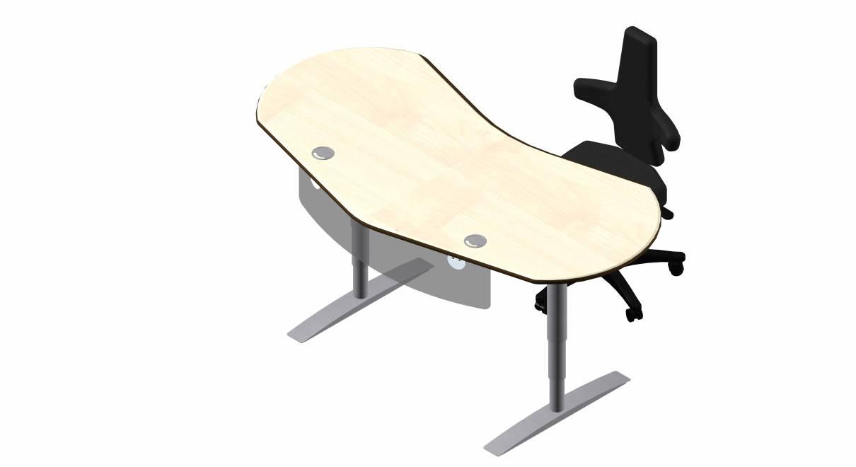 Steh-Sitz Schreibtisch: Joker Diamond in Dekor