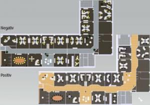 Architektur - Innenausbau und Raumaufteilung an die Bedürfnisse des Menschen angepasst