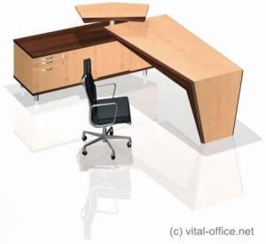 Designvariationen von Schreib- und Konferenztischen mit Board und Stehpult