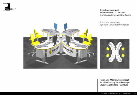 Büroplanung | Raum und Möblierungskonzept für HUK Coburg