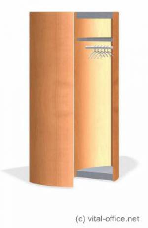 Mobile Garderobe, fahrbar und aufklappbar