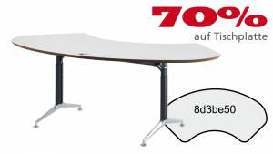 Schreibtisch FormFit gerade 8d3be50 in kristallweiß Dekor 2040x1027mm