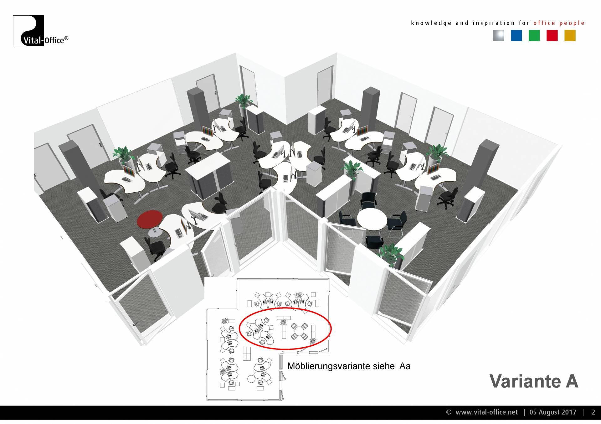 Büroplanung | Großraum-Gruppenbüro DTM-01 für DK Büro und Wohndesign ...