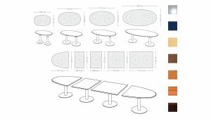 Variconferenz - Variable Konferenztische ovale Form
