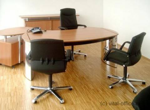 circon executive classic - Chefschreibtisch - Hochglanz Chrom mit Schweizer Birnbaum