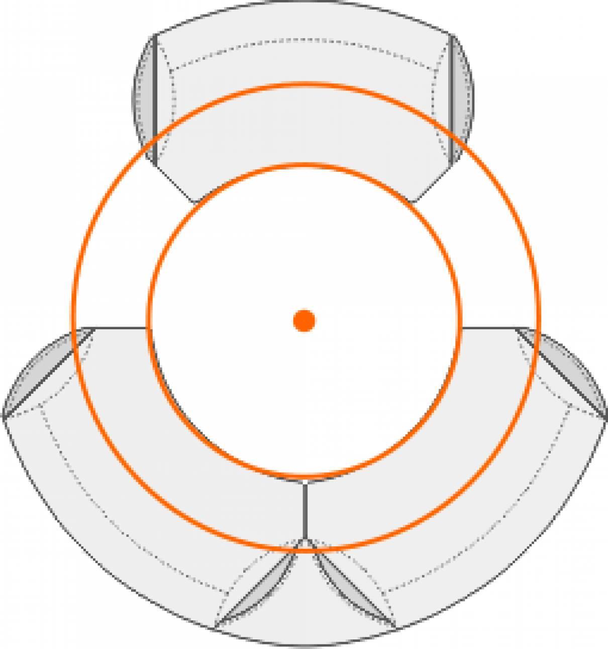circon executive classic - Anthropometrische Tischplatten sind kreisförmig