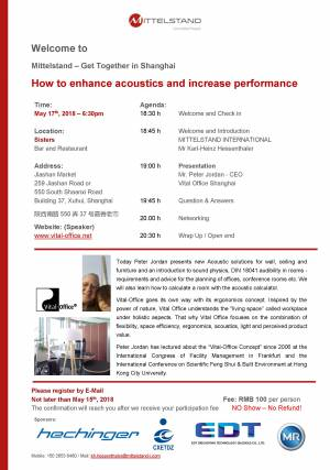 How to enhance acoustics and increase performance - Get Together in Shanghai