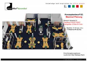 Grossraum- und Einzelbüros für 68 Mitarbeiter